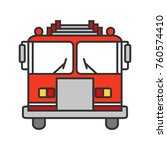 fire engine color icon....