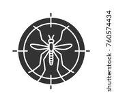 mosquitoes target glyph icon.... | Shutterstock .eps vector #760574434