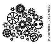 complex mechanism of various... | Shutterstock .eps vector #760578880