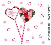 greeting card for st. valentine'... | Shutterstock .eps vector #760578994