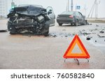 accident or crash with two... | Shutterstock . vector #760582840