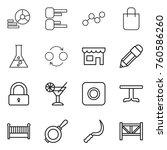 Thin Line Icon Set   Diagram ...