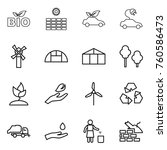 thin line icon set   bio  sun... | Shutterstock .eps vector #760586473