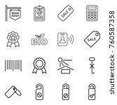 thin line icon set   shop... | Shutterstock .eps vector #760587358