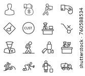 thin line icon set   man  money ... | Shutterstock .eps vector #760588534