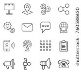 thin line icon set   billboard  ...   Shutterstock .eps vector #760588630