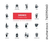 food theme  alcohol and soft... | Shutterstock .eps vector #760590460