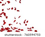 Stock photo rose petals fall to the floor isolated background 760594753