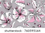 seamless pattern with image of... | Shutterstock .eps vector #760595164