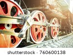 train drive mechanism and red... | Shutterstock . vector #760600138