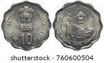india indian aluminum coin 10...   Shutterstock . vector #760600504