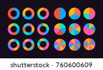 circle segments set vector ... | Shutterstock .eps vector #760600609