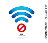 no internet connection sign... | Shutterstock .eps vector #760601149