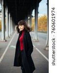 portrait of a stylish pretty... | Shutterstock . vector #760601974