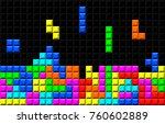 brick retro   game vector... | Shutterstock .eps vector #760602889