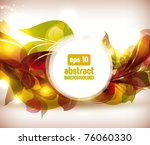 abstract colorful flovers... | Shutterstock .eps vector #76060330