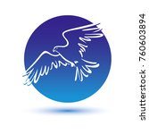 eagle icon illustration... | Shutterstock .eps vector #760603894
