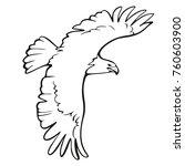 eagle icon illustration... | Shutterstock .eps vector #760603900