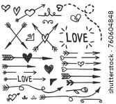 hand drawn love set  vector | Shutterstock .eps vector #760604848