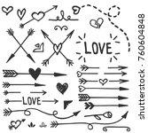 Hand Drawn Love Set  Vector