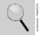 transparent magnify glass...   Shutterstock .eps vector #760605274
