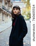 closeup of effective girl... | Shutterstock . vector #760605514