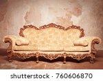 luxury baroque sofa  | Shutterstock . vector #760606870