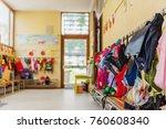 empty hallway in the school ... | Shutterstock . vector #760608340