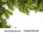 new year frame with christmas... | Shutterstock . vector #760609633
