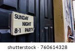 changeable sign on a door in a... | Shutterstock . vector #760614328