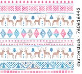 seamless watercolor ethnic... | Shutterstock . vector #760616443
