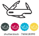 multipurpose knife icon | Shutterstock .eps vector #760618390