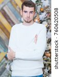 christmas concept  male fashion.... | Shutterstock . vector #760620508