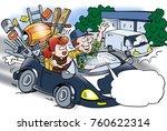 cartoon illustration of a... | Shutterstock . vector #760622314
