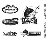 set of fishing logos | Shutterstock .eps vector #760623340