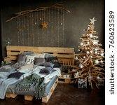 coziness  comfort  interior and ... | Shutterstock . vector #760623589