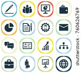 trade icons set with hierarchy  ... | Shutterstock .eps vector #760626769