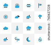climate colorful icons set with ...   Shutterstock .eps vector #760627228