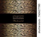 vintage baroque wedding... | Shutterstock .eps vector #760627780