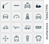 transportation icons set with... | Shutterstock .eps vector #760627990