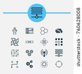 learning icons set with atomic... | Shutterstock .eps vector #760628008