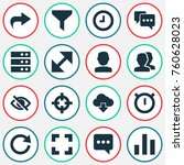 user icons set with strainer ...