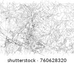 streets of brescia  city map ... | Shutterstock .eps vector #760628320