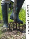 Green Boots Digging The Garden...
