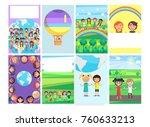 1 june holiday template with... | Shutterstock . vector #760633213