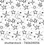 star background white and black ... | Shutterstock .eps vector #760634056