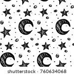 star background white and black ... | Shutterstock .eps vector #760634068