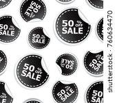 sale 50  percent off sticker... | Shutterstock .eps vector #760634470