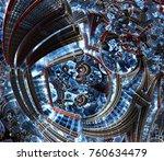 3d fractal of future city....   Shutterstock . vector #760634479