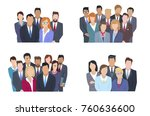 business team  concepts set.... | Shutterstock . vector #760636600